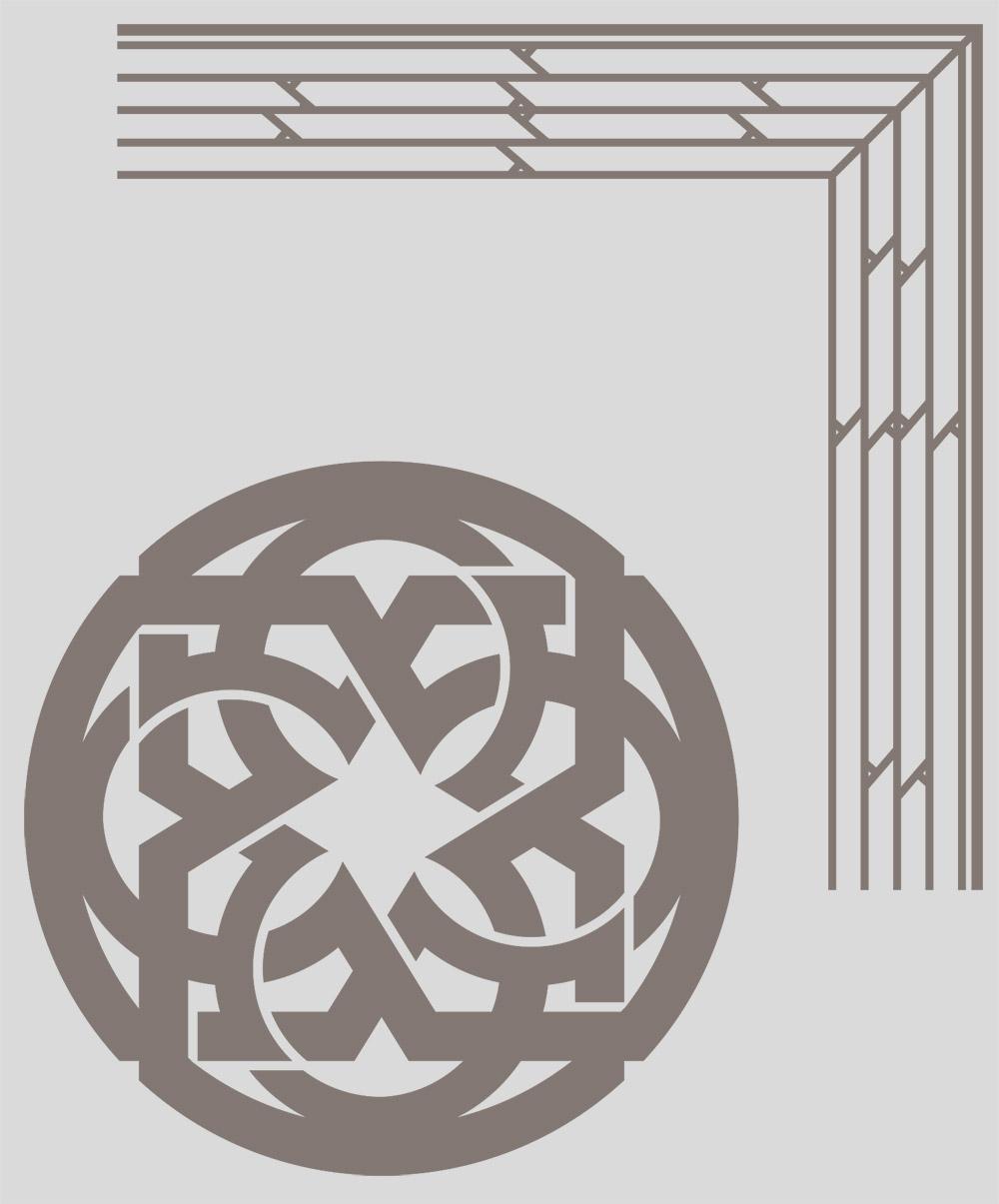 Были отрисованы в векторе орнаменты, предоставленные клиентом в растровом изображении плохого качества