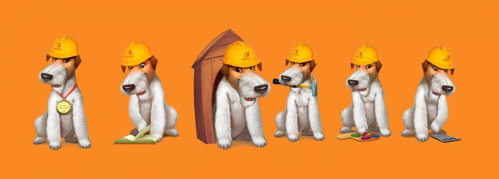 Флэш-анимация псов для сайта Бригады N1