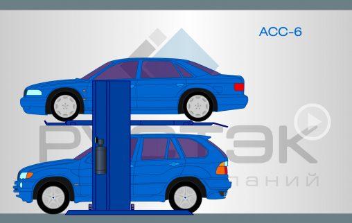 Flash анимация автомобильных подъемников модели ACC-6