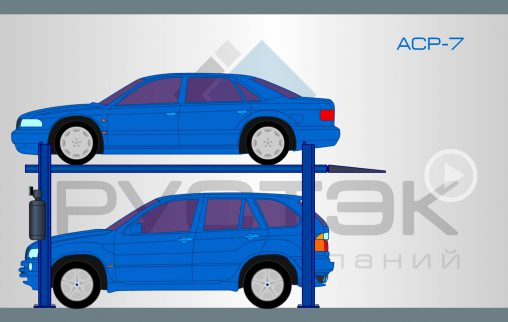 Флэш анимация автомобильных подъемников модели ACP-7