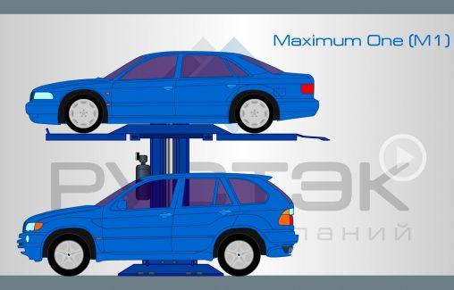 Flash анимация работы автомобильного подъемника модели Maximum One M-1
