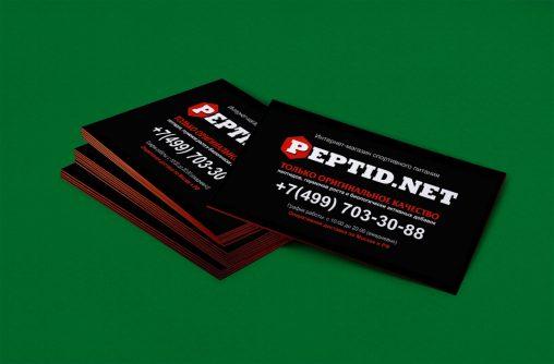 Дизайн визиток для PEPTID NET