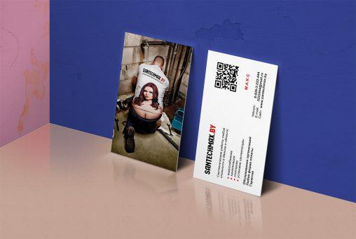 Дизайн двусторонних визиток для сантехника