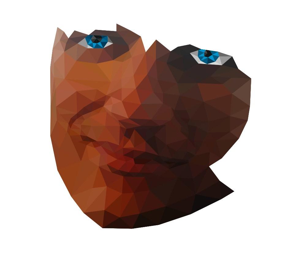 У портрета уже оба глаза и подбородок